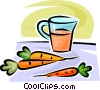 carrots and carrot juice Vector Clipart image