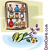 spices, preserves and condiments Vector Clipart illustration