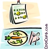 Vector Clipart illustration  of a carrots and a calendar