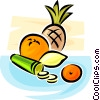 fruits and vegetables Vector Clip Art graphic