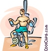 Man working out Vector Clipart picture