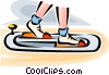 Vector Clipart graphic  of a person exercising