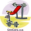 weight lifting set Vector Clipart illustration