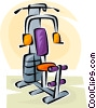 Vector Clip Art image  of a exercising equipment