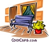 Vector Clip Art picture  of a bench