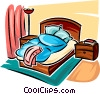 Vector Clipart graphic  of a bed