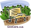 Vector Clip Art image  of a park bench