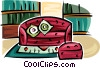 Vector Clip Art picture  of a couch
