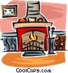 fireplace Vector Clip Art graphic