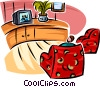 Vector Clip Art graphic  of a living room furniture and a