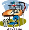 Vector Clip Art graphic  of a drafting table