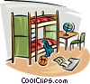 bunk beds Vector Clipart illustration