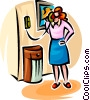 woman on the telephone Vector Clipart picture
