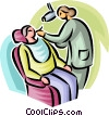 Man visiting the dentist Vector Clipart picture