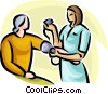 Vector Clip Art image  of a person having their blood