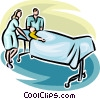 person on a gurney with hospital staff Vector Clipart picture
