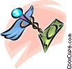 Vector Clip Art picture  of a caduceus