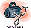 Vector Clip Art picture  of a Doctor's bag and a stethoscope