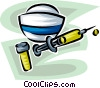 Vector Clip Art image  of a nurse's hat needle and