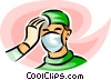 Vector Clip Art graphic  of a surgeon