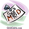 medical doctor's badge Vector Clipart image