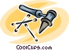 Vector Clip Art image  of a ear examining tools
