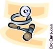 Vector Clipart graphic  of a doctor's tools