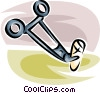 Vector Clip Art image  of a doctor's clamp