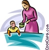 Vector Clip Art image  of a Family