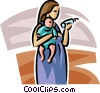 Pregnancy and Newborn Babies Vector Clip Art graphic