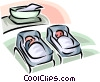 Vector Clipart image  of a Pregnancy and Newborn Babies