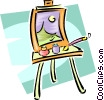 Vector Clip Art graphic  of a easel