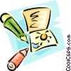 Vector Clip Art picture  of a colored pencils