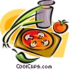 Vector Clip Art graphic  of a vegetable groups