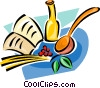 Vector Clip Art image  of a cooking supplies