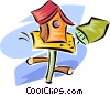 Vector Clipart illustration  of a birdhouse