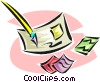 philately, stamp collecting Vector Clipart image