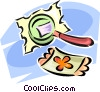 philately, stamp collecting Vector Clip Art picture