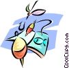 Vector Clipart image  of a fishing lures