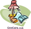 Vector Clipart graphic  of a reading lamp