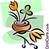 flowers in a pot Vector Clip Art picture