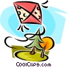 Vector Clipart picture  of a kite