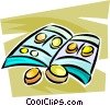 Vector Clip Art image  of a coin collections