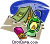 Vector Clip Art graphic  of a Camping gear