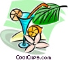 Vector Clipart image  of a cocktails