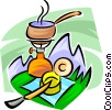 Vector Clip Art graphic  of a camping stove