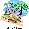 hammock Vector Clip Art graphic