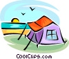 tent Vector Clipart graphic