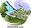 ski lift Vector Clip Art picture