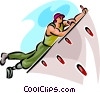 Vector Clipart graphic  of a indoor rock climber
